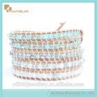 2014 fashion link bracelet jewelry double color crystal beads bracelet