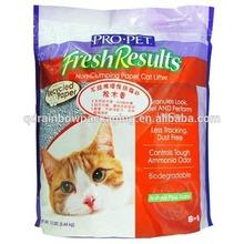 Pet food bag with zipper/250g dog food bag/cat litter bag