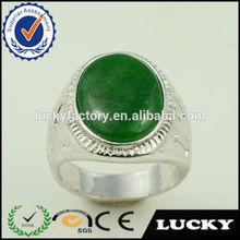 Big jade stone man design new coming imitation jewellery ring