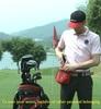 Helix nylon golf ball bag, golf holder