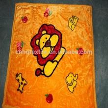 yiwu cat & mouse cartoon cute baby plush blanket/branded blanket/warm blanket for winter