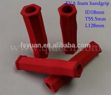 Hexagonal Rubber Foam Handle Grip / Sports Equipment Rubber Foam Handle Cover / Foam Rubber Sleeve Hand Grip