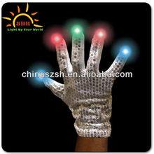 Led Flashing Fabric Gloves Wholesale China