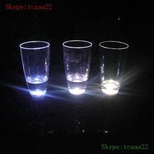 plastic led champagne glasses with straw light cup
