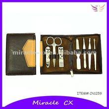 Manicure set black PU pouch unique corporate gift