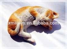 custom resin lovely lying cat figures animal sculpture for room decoration