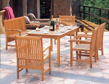 Muebles de exterior muebles / madera mesa y sillas de jardín DH-2003