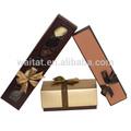 Barato de oro de lujo de la cinta de cartón cajas de Chocolate