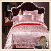 Home textile cotton satin jacquard four-piece optimal cass rose cotton bedding four sets wholesale