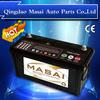 Super long life Maintenance free automotive battery ,JIS/DIN 100Ah standard top Korean car battery,12V100AH truck battery