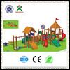 New design cheap kindergarten wooden playground outdoor wooden playground kindergarten school furniture wood house QX-B2102