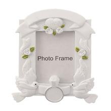 Promotional Product Pure White Resin Photo Frame Wedding Decor
