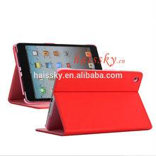 Factory Logo printing OEM PU leather case for iPad mini iPad mini2