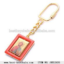 metal souvenir gold epoxy key chain