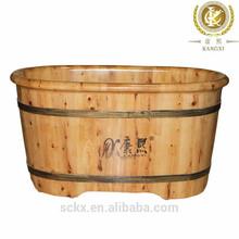 Solid quality wood dog bath tub, wood tub