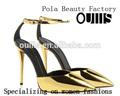 Golden partido zapatos de mujer delgada de alta del talón n-hp806 venta al por mayor