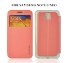 Ferrise hot selling high quality wallet card holder cheap flip case cover for samsung galaxy note3 neo