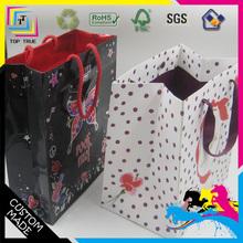 cheap C1S art paper gift bag/carrier