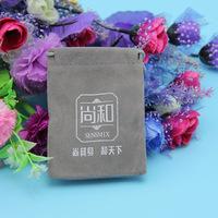 Lovely Velvet Dog Food Packaging Bag with Drawstring