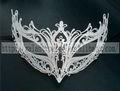 fábrica 2015 chirstmas halloween máscaras em branco borboleta de metal meia máscara facial