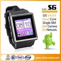 2014 S6 Touch Screen Android 4.0 WCDMA 3G Smart Watch Phone