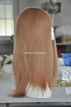 New Stock European Long human virgin hair light color pony tail jewish kosher wig for femal women