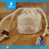 customed square jute mini drawstring bags