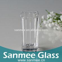 Stripe Decoration Square Glass Vase