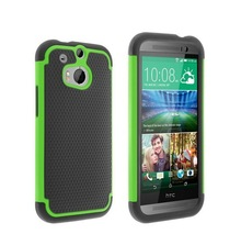 Silicone+ pc football cover case for htc one m8(free sample)