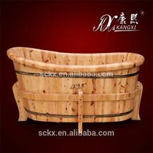 Solid wood cedar sexy japanese massage tub, clawfoot tub