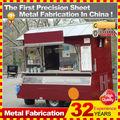 personalizado hecho de acero inoxidable de la calle kiosco de alimentos carro para la venta