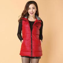 Women's Hooded Body Warmer Ladies Jacket Padded Vest Waistcoat Down Coat