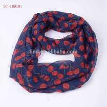 2015 spring fruit cherry print scarf