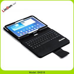 Detachable PU Leather Case Bluetooth Mini Keyboard Case For Samsung Tab 3 10.1 P5200