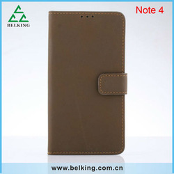 Hottest PU leather stand cell phone case for Samsung galaxy Note 4 new in 2014