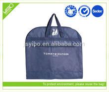 Customized logo color reusable foldable nylon/non woven hanging garment bag travel