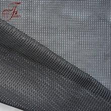 New Design High Quality Smooth Stiff Black Garment Poly Mesh Fabric