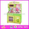 2014 Hot sale quality kitchen toy set, new and popular kids kitchen toy set, cute design wooden kitchen toy set factory W10C034