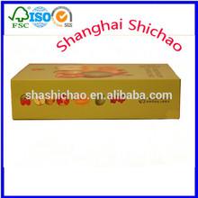 Glossy lamination apple corrugated carton box /Shanghai Shichao