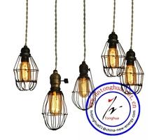 loft vintage industrial cage light fixture