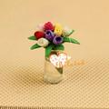 Casa de muñecas en miniatura 1:12 artificiales flores arcilla arcilla japonesa de flores