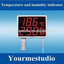 As108 led de pared- montado en la temperatura y la humedadindicador