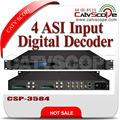 Asi 4 de entrada digital receptor/ird dvb-t