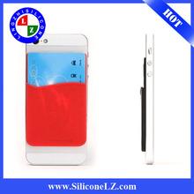 2014 cheap silicone card holder adhesive, silicon card holder,detachable card holder cum phone stand bamboo fibre mug