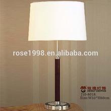 hotel guest room bedside wood light
