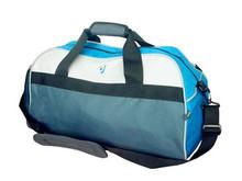 China Supplier Wholesale Custom Jacquard Sky Blue Foldable Sport Shoulder Portable Travel Bags for Men&Women