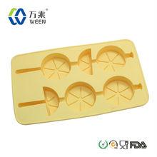 2014 Custom Lemon silicone ice cube tray with sticks/Diamond Tool/Diamond ice cube tray
