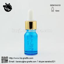 10ml baby blue metal dropper cap essential oil bottle in hot sale