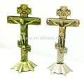 Antigo pé cruz crucifixo Jesus cristo Altar ornamentado projeto