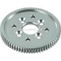 High precision aluminium main gear wheel, small aluminum toothed spur gear